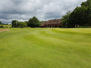 The Clubhouse from the 18th approach